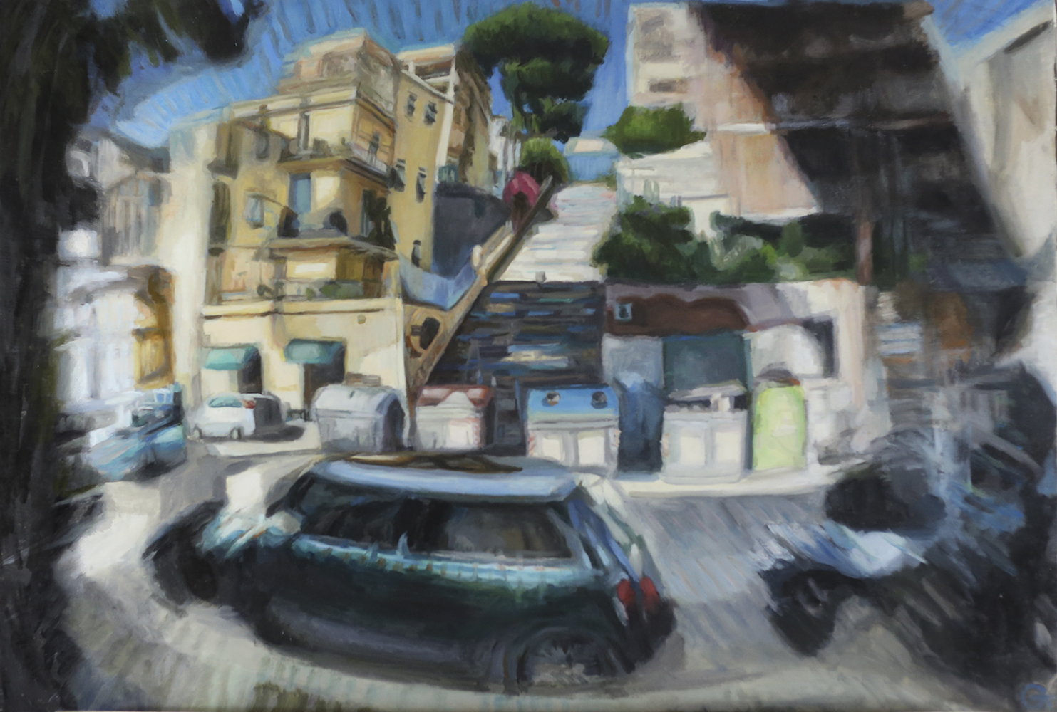 Painting_ Rome view_ 3D effect